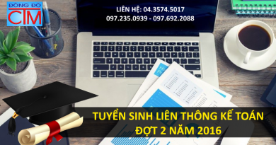 trường trung cấp đông đô tuyển sinh liên thông đại học kế toán đợt 2 năm 2016