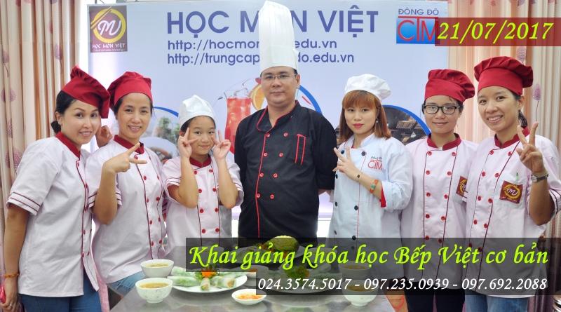 khai giảng khóa bếp việt cơ bản 21/07/2017 - học trung cấp