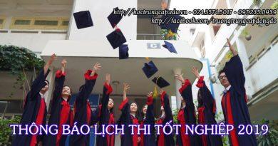 thông báo lịch thi tốt nghiệp đợt 1 năm 2019 trường Trung cấp Đông Đô