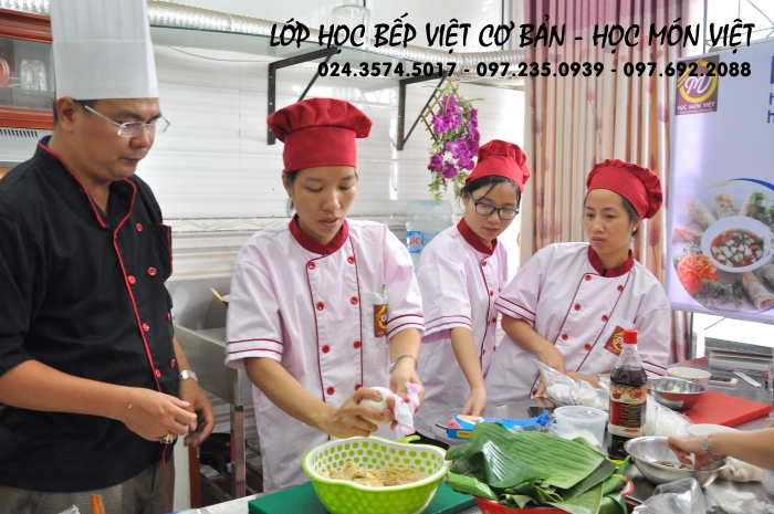 hình ảnh khóa học bếp việt cơ bản - học trung cấp