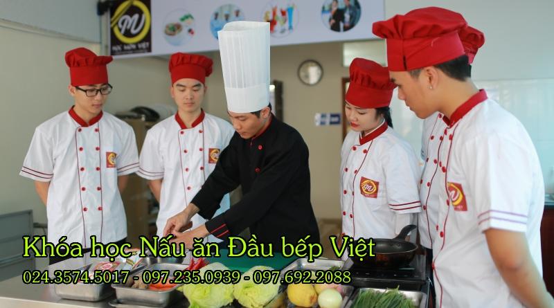 khóa học nấu ăn Đầu bếp Việt - Học món Việt - Học Trung cấp