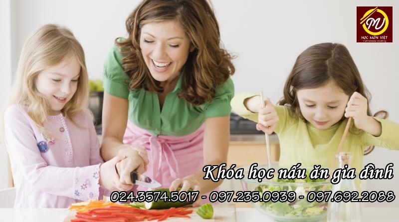 khóa học nấu ăn gia đình - Học Món Việt - Học Trung cấp