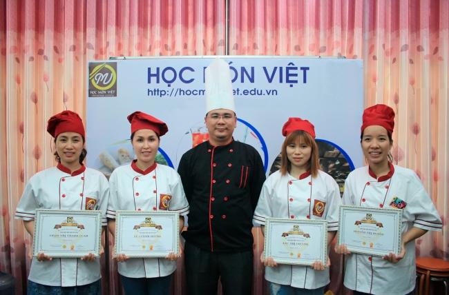 Lớp học nấu ăn Học Món Việt - Học Trung cấp