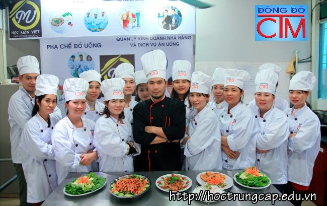 chương trình đào tạo trung cấp nấu ăn bồi dưỡng tay nghề trường trung cấp Đông Đô - Học Trung cấp