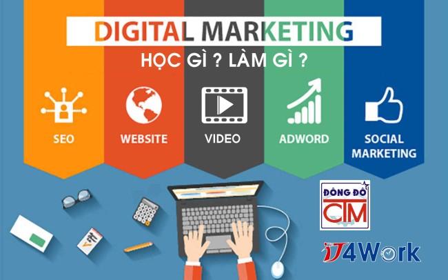 học digital marketing trong chương trình trung cấp Tin học ứng dụng tại trường Trung cấp Công nghệ và Quản trị Đông Đô