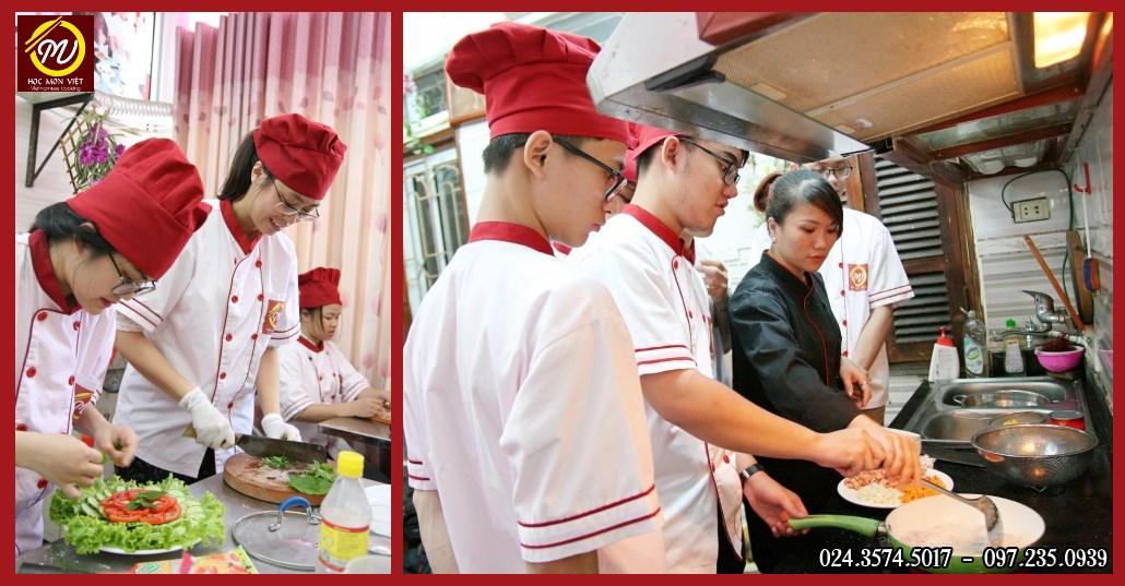 Lớp học nấu ăn gia đình buổi tối cho mọi đối tượng - Học Món Việt - Học Trung cấp