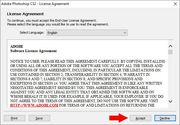 hướng dẫn cài đặt phần mềm Photoshop CS2 07 trường Trung cấp Công nghệ và Quản trị Đông Đô