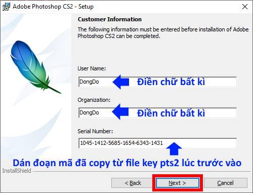 hướng dẫn cài đặt phần mềm Photoshop CS2 08 trường Trung cấp Công nghệ và Quản trị Đông Đô