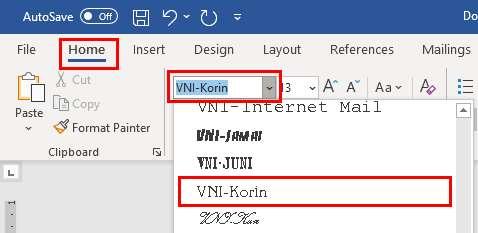 cách gõ tiếng Việt trong Word ảnh 6 trường Trung cấp Công nghệ và Quản trị Đông Đô