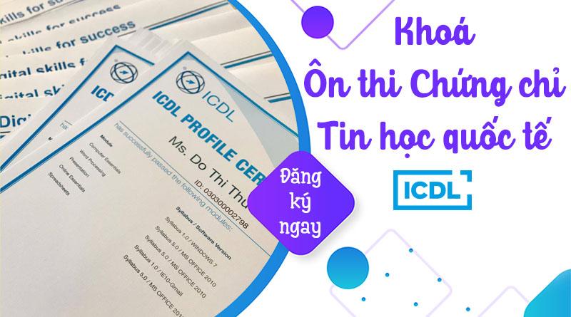 Khoá ôn thi Chứng chỉ tin học quốc tế ICDL tại IT4Work